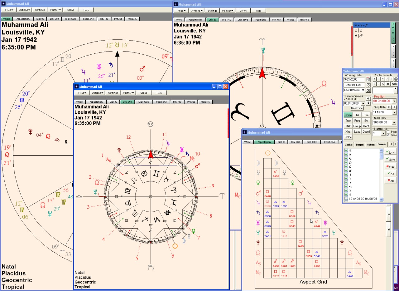 Nova chartwheels just clone a chart to create different windows showing it simultaneously as a regular wheel 360 dial 90 dial aspect grid etc nvjuhfo Image collections